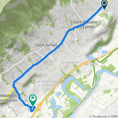 De 160 Chemin des Batelières, Bernin à 301 Rue Aristide Bergès, Montbonnot-Saint-Martin