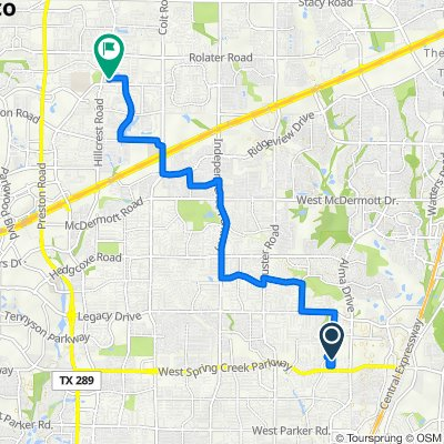Monahans Court 6400, Plano to Fairlawn Drive 6501, Frisco