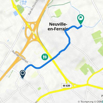 Itinéraire vers 22 Rue Jules Verne, Neuville-en-Ferrain