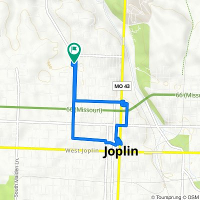 Rode to Liberty Utilities, City of Joplin, Post Office, Dollar General then back home!