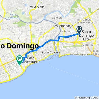 De Calle Costa Rica, Santo Domingo a Calle 9, Santo Domingo