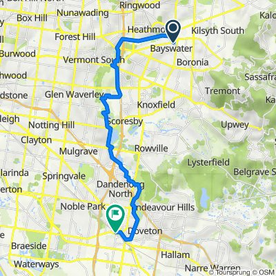 Bayswater to Dandenong via Eastlink