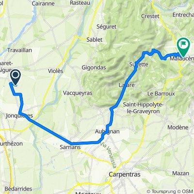 Itinéraire vers 31B Cours des Isnards, Malaucène