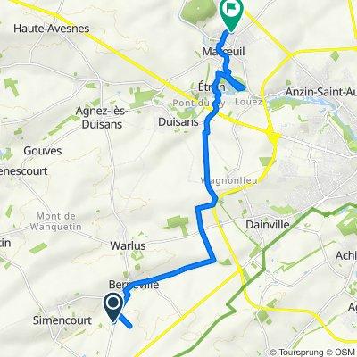 De D62, Berneville à Chemin Grignart 152, Marœuil