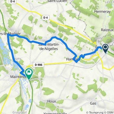 De Épernon à Route de Gallardon, Maintenon