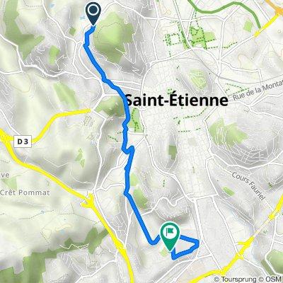 De 26 Rue Arthur Ranc, Saint-Étienne à 5 Rue des Frères Grail, Saint-Étienne