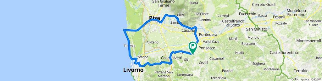 Da Via Sposini 8, Casciana Terme Lari a Via Sposini 16, Casciana Terme Lari