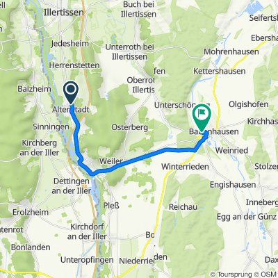 Memminger Straße 71, Altenstadt nach Leharstraße 12–14, Babenhausen