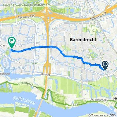 Aak 16, Barendrecht naar Wilgenwede 55, Barendrecht