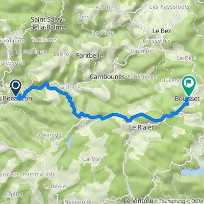 De 13 Rue du Pont Rodier, Boissezon à Chemin de Boscaut, Lasfaillades