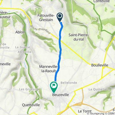 De 1301 Chemin de l'Inglemare, Fatouville-Grestain à Rue Albert Sorel, Beuzeville