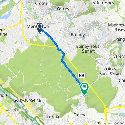 Itinéraire à partir de 17 Rue René Cassin, Montgeron