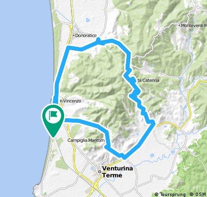San Vincenzo Tour 1,  Suvereto - San Vincenzo