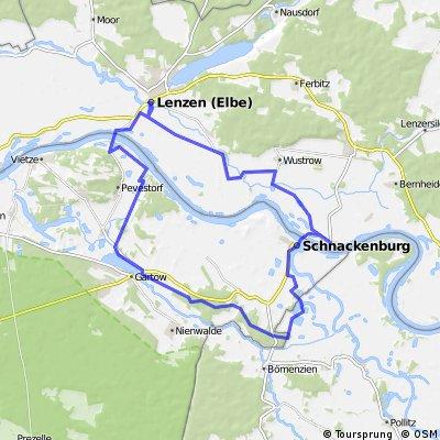 Lenzen - Pevestorfer Wiesen - Alant-Niederung - Schnackenburg - Lenzen