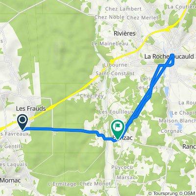 De Route de Bunzac, Mornac à Route du Moulin, Bunzac