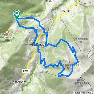 Slightly shorter hike in Hirschegg
