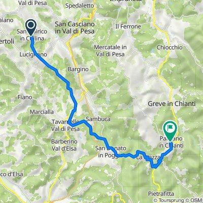 Via Romita 246, San Quirico In Collina naar Piazza Gastone Bucciarelli 34, Panzano In Chianti