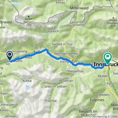 Route nach Südtiroler Platz 6, Innsbruck