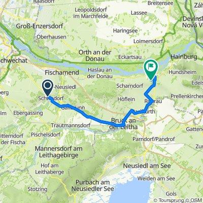 Grüner Weg 9, Schwadorf bei Wien nach Heidentorgasse 34, Petronell-Carnuntum