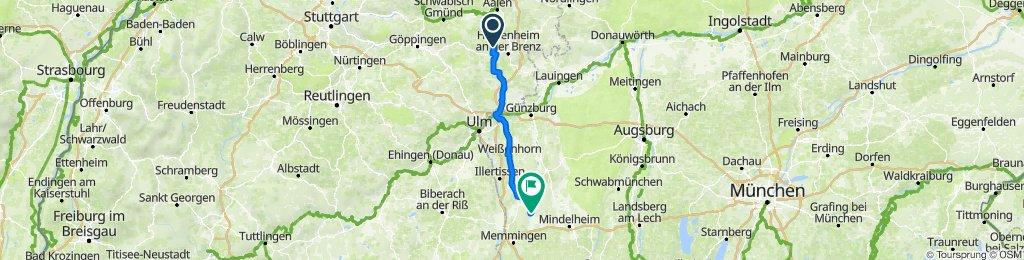 Steinheim a.A. nach Egg an der Günz