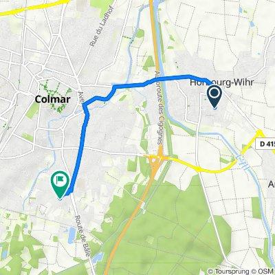 De Rue des Césars, Horbourg-Wihr à 1 Chemin de Sainte-Croix, Colmar