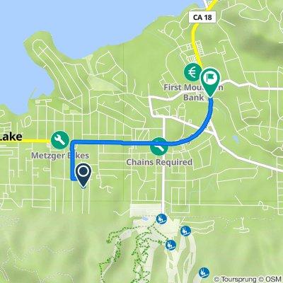 745 Eureka Dr, Big Bear Lake to 42147 Big Bear Blvd, Big Bear Lake
