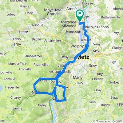 De Rue Coluche 2, Maizières-lès-Metz à Route de Thionville 87, Maizières-lès-Metz
