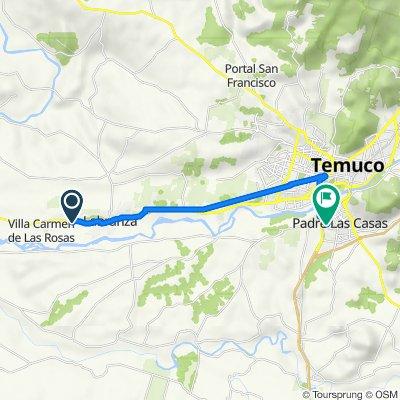 De S-30/ km 1,6, Labranza a Pasaje Los Quilantos 535, Padre las Casas