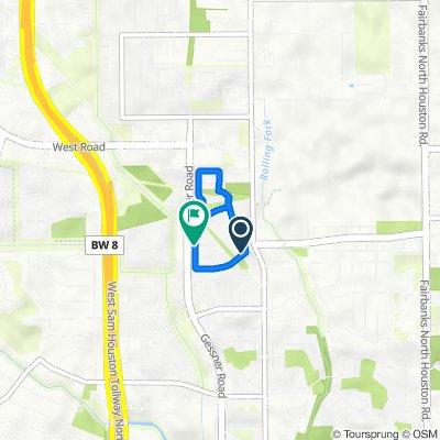 9406 Shadow Gate Ln, Houston to 8535 Village Terr, Houston