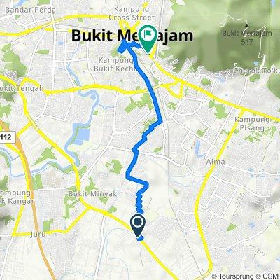 Route from Jalan Bukit Merah, Permatang Tinggi