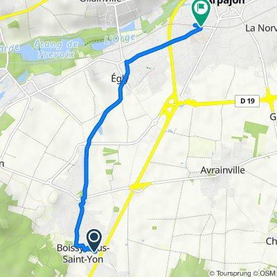 Itinéraire à partir de 8 Rue du Clos de la Boissière, Boissy-sous-Saint-Yon