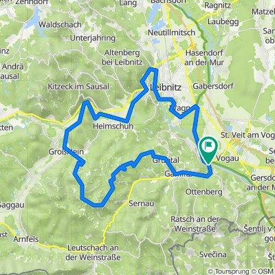"""Genussradeln - Weinstraßen Tour Variante 1 - """"Kranachberg-Heimschuh"""""""