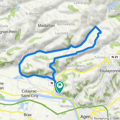 De Route du Bedat 1042, Colayrac-Saint-Cirq à Route du Bedat 1042, Colayrac-Saint-Cirq