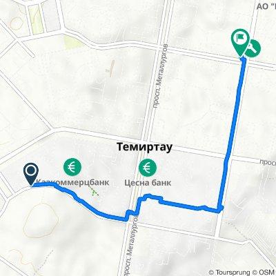 От улица Амангельды 55, Темиртау до улица Димитрова 48, Темиртау