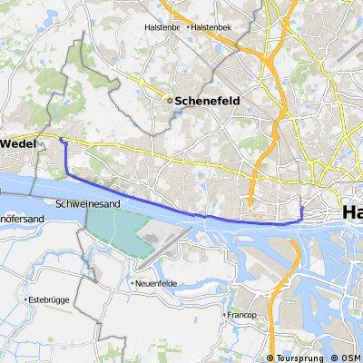 Neumühlen Elbe bis S-Bahn Rissen