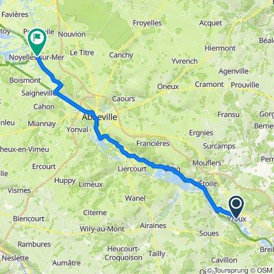 1 Rue des Trois Fusillés, Yzeux to 65 Rue du Général de Gaulle, Noyelles-sur-Mer