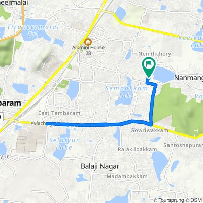 2nd Cross Street, Chennai to 2nd Cross Street, Chennai