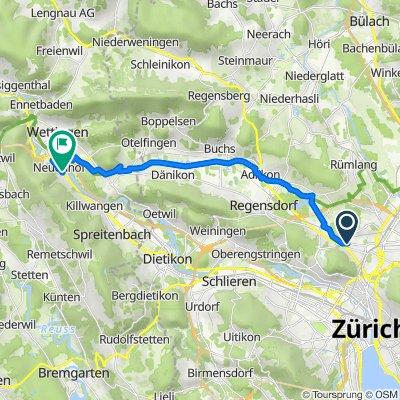 Binzmühlestrasse 302, Zürich nach Zürcherstrasse 137, Neuenhof