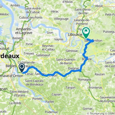 De Rue de la Libération 4, Latresne à Le Rivalon 2, Saint-Émilion