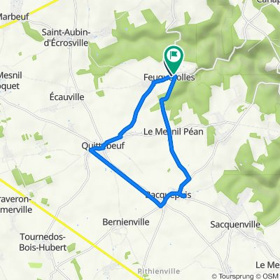 De Rue Chédeville 4, Feuguerolles à Route de Brezolles 4, Feuguerolles