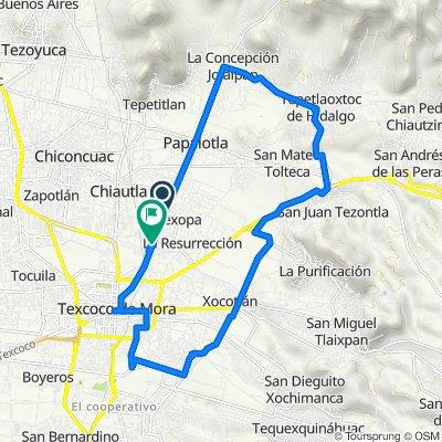 De Avenida Benito Juárez 114, Tulantongo a Calle Benito Juárez 882, Tulantongo