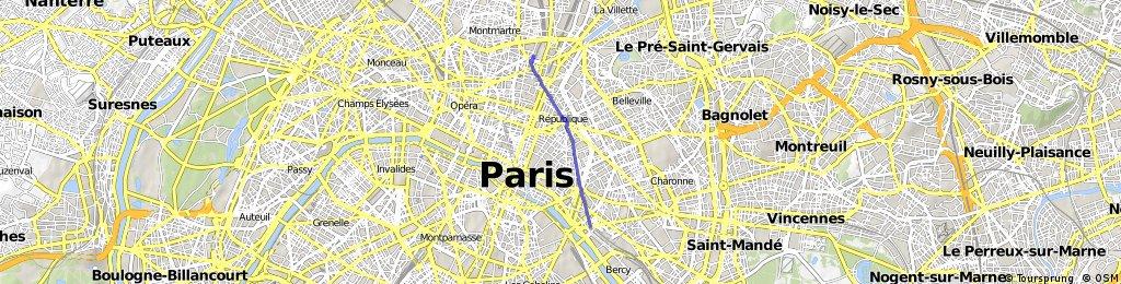 Gard Du Nord Paris Map.Gare De Lyon To Gare Du Nord Paris Bikemap Your Bike Routes