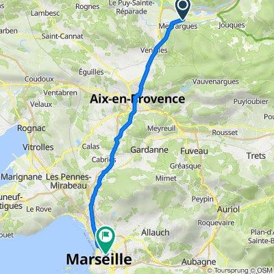 De Gare Meyrargues à Boulevard Voltaire 31, Marseille