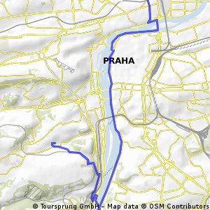 Holešovice - Staré Město - Vyšehrad - Barrandovský most - Zlíchov - Dívčí Hrady - Radlická