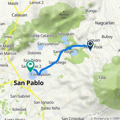 Arban, Rizal to Dagatan Boulevard, San Pablo City