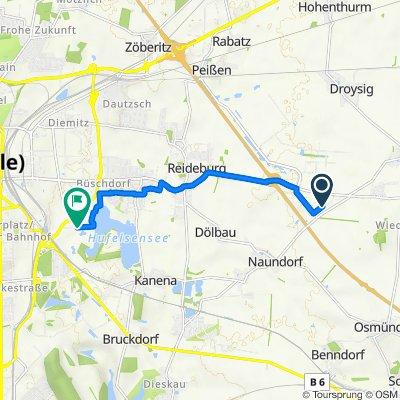 Igepa-Ring 1, Landsberg nach Krienitzweg 10, Halle (Saale)