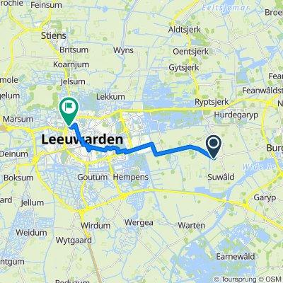 Symen Halbeswei 2, Suwâld naar Sweelinckstraat 20, Leeuwarden