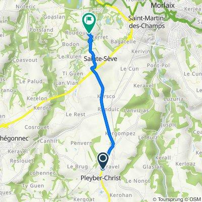De 2 Rue du Docteur Calmette, Pleyber-Christ à 1 Lotissement du Quinquis Huella, Sainte-Sève