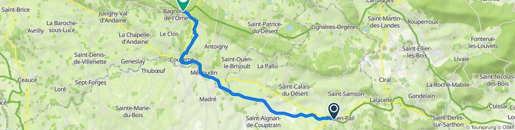 De Avenue de Bretagne 5088A, Pré-en-Pail-Saint-Samson à Avenue du Docteur Paul Lemuet 2, Bagnoles-de-l'Orne