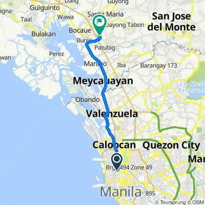Route from 1951 Katamanan Interior, Manila